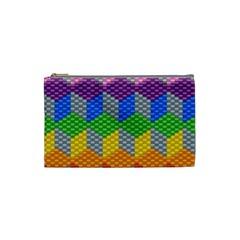 Block Pattern Kandi Pattern Cosmetic Bag (small)