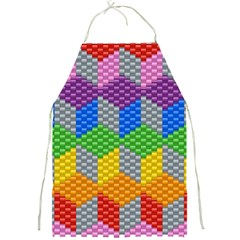Block Pattern Kandi Pattern Full Print Aprons by AnjaniArt