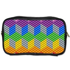 Block Pattern Kandi Pattern Toiletries Bags 2 Side