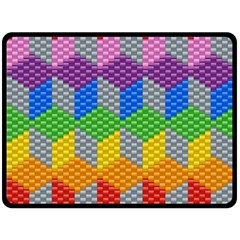 Block Pattern Kandi Pattern Fleece Blanket (large)  by AnjaniArt