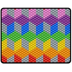 Block Pattern Kandi Pattern Fleece Blanket (medium)
