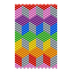 Block Pattern Kandi Pattern Shower Curtain 48  X 72  (small)  by AnjaniArt