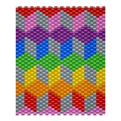 Block Pattern Kandi Pattern Shower Curtain 60  X 72  (medium)