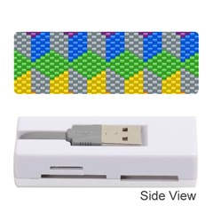 Block Pattern Kandi Pattern Memory Card Reader (stick)