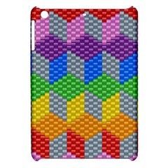 Block Pattern Kandi Pattern Apple Ipad Mini Hardshell Case by AnjaniArt