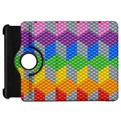 Block Pattern Kandi Pattern Kindle Fire Hd Flip 360 Case by AnjaniArt