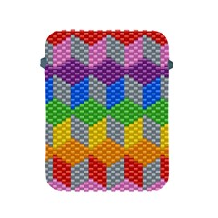Block Pattern Kandi Pattern Apple Ipad 2/3/4 Protective Soft Cases by AnjaniArt