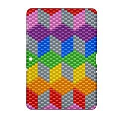 Block Pattern Kandi Pattern Samsung Galaxy Tab 2 (10 1 ) P5100 Hardshell Case  by AnjaniArt