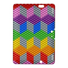 Block Pattern Kandi Pattern Kindle Fire Hdx 8 9  Hardshell Case by AnjaniArt