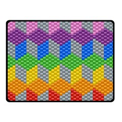 Block Pattern Kandi Pattern Double Sided Fleece Blanket (small)  by AnjaniArt