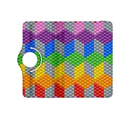 Block Pattern Kandi Pattern Kindle Fire Hdx 8 9  Flip 360 Case by AnjaniArt