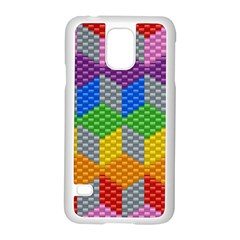 Block Pattern Kandi Pattern Samsung Galaxy S5 Case (white) by AnjaniArt