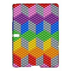 Block Pattern Kandi Pattern Samsung Galaxy Tab S (10 5 ) Hardshell Case  by AnjaniArt