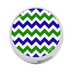 Blue And Green Chevron Pattern 4 Port Usb Hub (one Side) by AnjaniArt