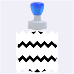 Blue And Green Chevron Pattern Rubber Round Stamps (large) by AnjaniArt
