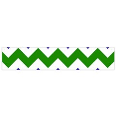 Blue And Green Chevron Pattern Flano Scarf (small) by AnjaniArt