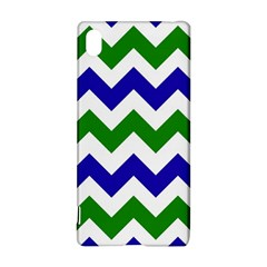 Blue And Green Chevron Pattern Sony Xperia Z3+