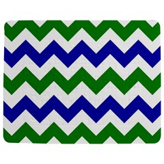 Blue And Green Chevron Pattern Jigsaw Puzzle Photo Stand (rectangular)