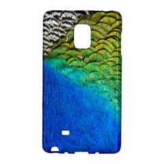 Blue Peacock Feathers Galaxy Note Edge by AnjaniArt