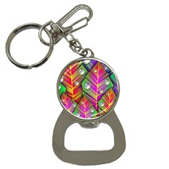 Bubbles Colorful Leaves Bottle Opener Key Chains by AnjaniArt