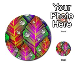 Bubbles Colorful Leaves Multi Purpose Cards (round)  by AnjaniArt
