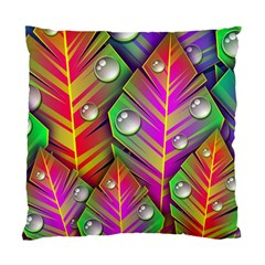 Bubbles Colorful Leaves Standard Cushion Case (one Side) by AnjaniArt