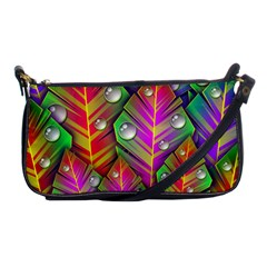 Bubbles Colorful Leaves Shoulder Clutch Bags by AnjaniArt