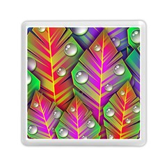 Bubbles Colorful Leaves Memory Card Reader (square)  by AnjaniArt