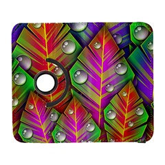 Bubbles Colorful Leaves Samsung Galaxy S  Iii Flip 360 Case by AnjaniArt