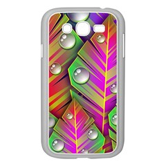 Bubbles Colorful Leaves Samsung Galaxy Grand Duos I9082 Case (white) by AnjaniArt