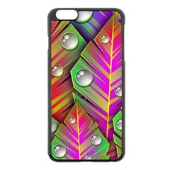 Bubbles Colorful Leaves Apple Iphone 6 Plus/6s Plus Black Enamel Case by AnjaniArt