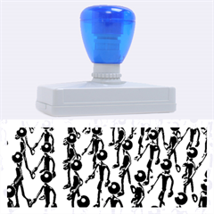 Business Men Marching Concept Rubber Address Stamps (xl) by AnjaniArt