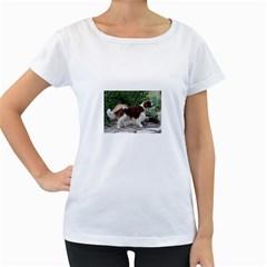 Welsh Springer Spaniel Full Women s Loose-Fit T-Shirt (White) by TailWags
