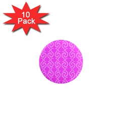 Pink elegant pattern 1  Mini Magnet (10 pack)