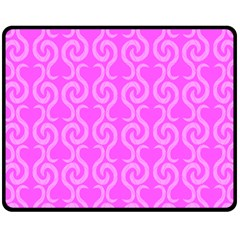 Pink Elegant Pattern Fleece Blanket (medium)  by Valentinaart