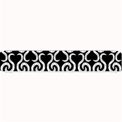 Black And White Pattern Small Bar Mats by Valentinaart