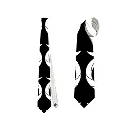 Black And White Pattern Neckties (two Side)  by Valentinaart
