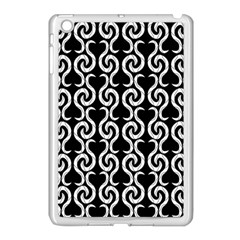 Black and white pattern Apple iPad Mini Case (White) by Valentinaart