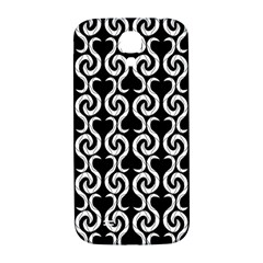 Black And White Pattern Samsung Galaxy S4 I9500/i9505  Hardshell Back Case by Valentinaart