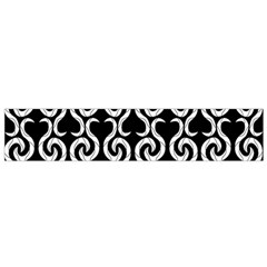 Black And White Pattern Flano Scarf (small) by Valentinaart