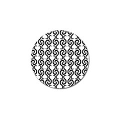 White And Black Elegant Pattern Golf Ball Marker by Valentinaart