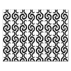 White And Black Elegant Pattern Rectangular Jigsaw Puzzl by Valentinaart