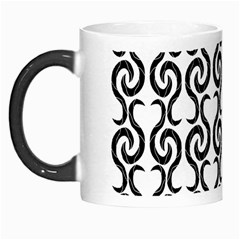 White And Black Elegant Pattern Morph Mugs by Valentinaart