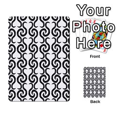 White And Black Elegant Pattern Multi Purpose Cards (rectangle)  by Valentinaart