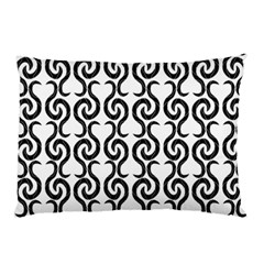 White And Black Elegant Pattern Pillow Case by Valentinaart