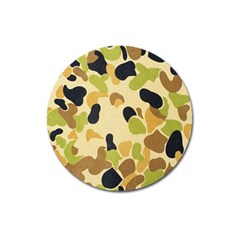 Camouflage Pattern Army Magnet 3  (round) by AnjaniArt