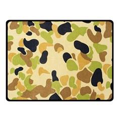 Camouflage Pattern Army Fleece Blanket (Small) by AnjaniArt