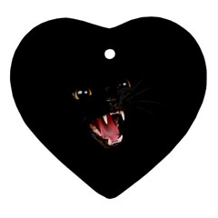 Cat Animal Cute Ornament (heart)  by AnjaniArt