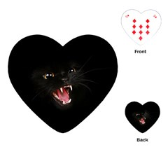 Cat Animal Cute Playing Cards (heart)  by AnjaniArt
