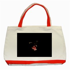 Cat Animal Cute Classic Tote Bag (red) by AnjaniArt